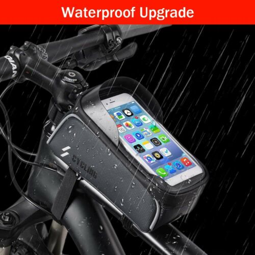 Cycling Bike Bicycle Frame Pannier Front Tube Pouch Bag Mobile Phone Holder UK