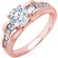 2Ctw-Redondo-amp-Corte-Baguette-Certificado-de-GIA-Anillo-de-Compromiso-Diamante miniatura 3