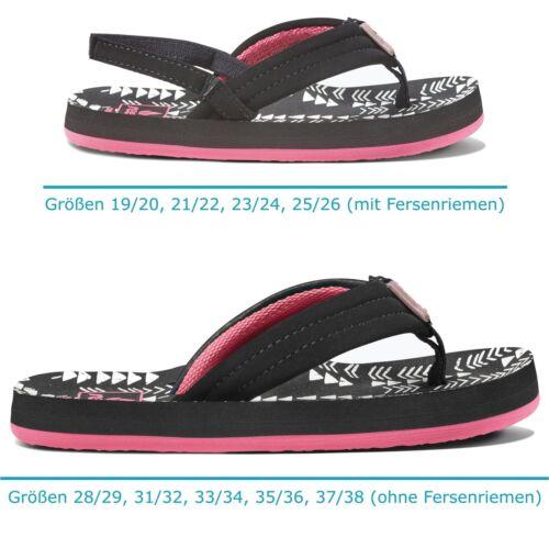 REEF Kinder Sandalen Girls Mädchen Flip Zehensandalen Strand »LITTLE AHI« BlackT