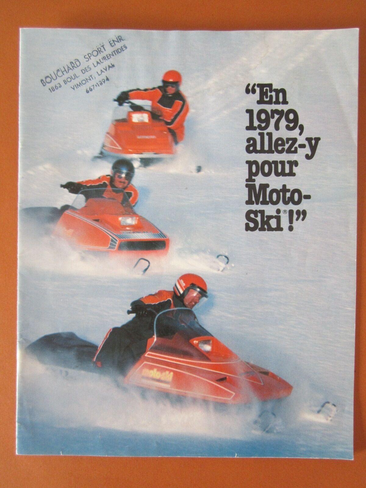 Vintage / Antique 1979 Moto-Ski snowmobile advertising sale brochure Ski-Doo