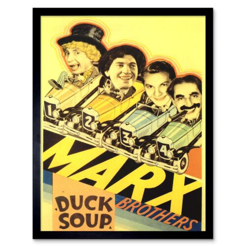 Movie Film Duck Soup Marx Brothers Comedy Musical Zeppo Usa 12X16 Framed Print