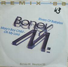 "7"" 1988 REMIX IN MINT- ! BONEY M. : Rivers Of Babylon"