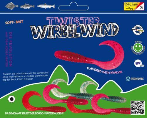 Dorsch Beifänger 3 Farben Mix Eisele TWISTER WIRBELWIND mit KVALVIK Flavour