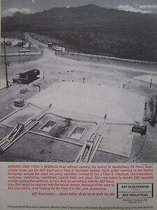 1/1964 Pub Acf Electronics Vandenberg Afb Titan Ii Missiles Simulator System Ad Mf8owdjk-07231335-786816854