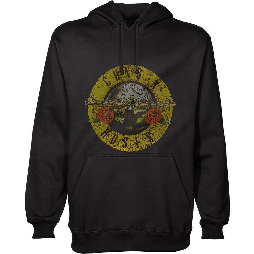Official lizensiert - Guns N Roses - Klassisches Logo Kapuzenpullover Slash