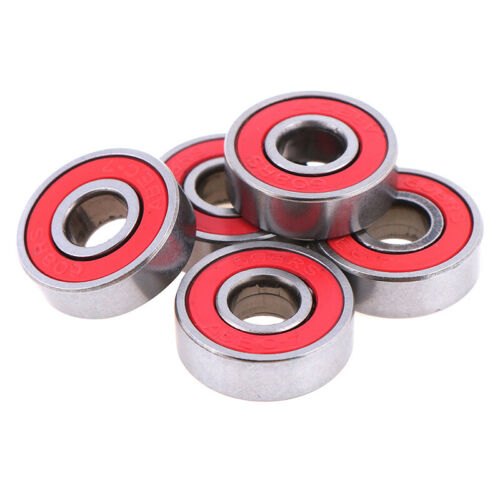 5Pcs Red ABEC-7 608RS Skateboard Roller Sealed Ball Bearings 8x22x7mm-DR