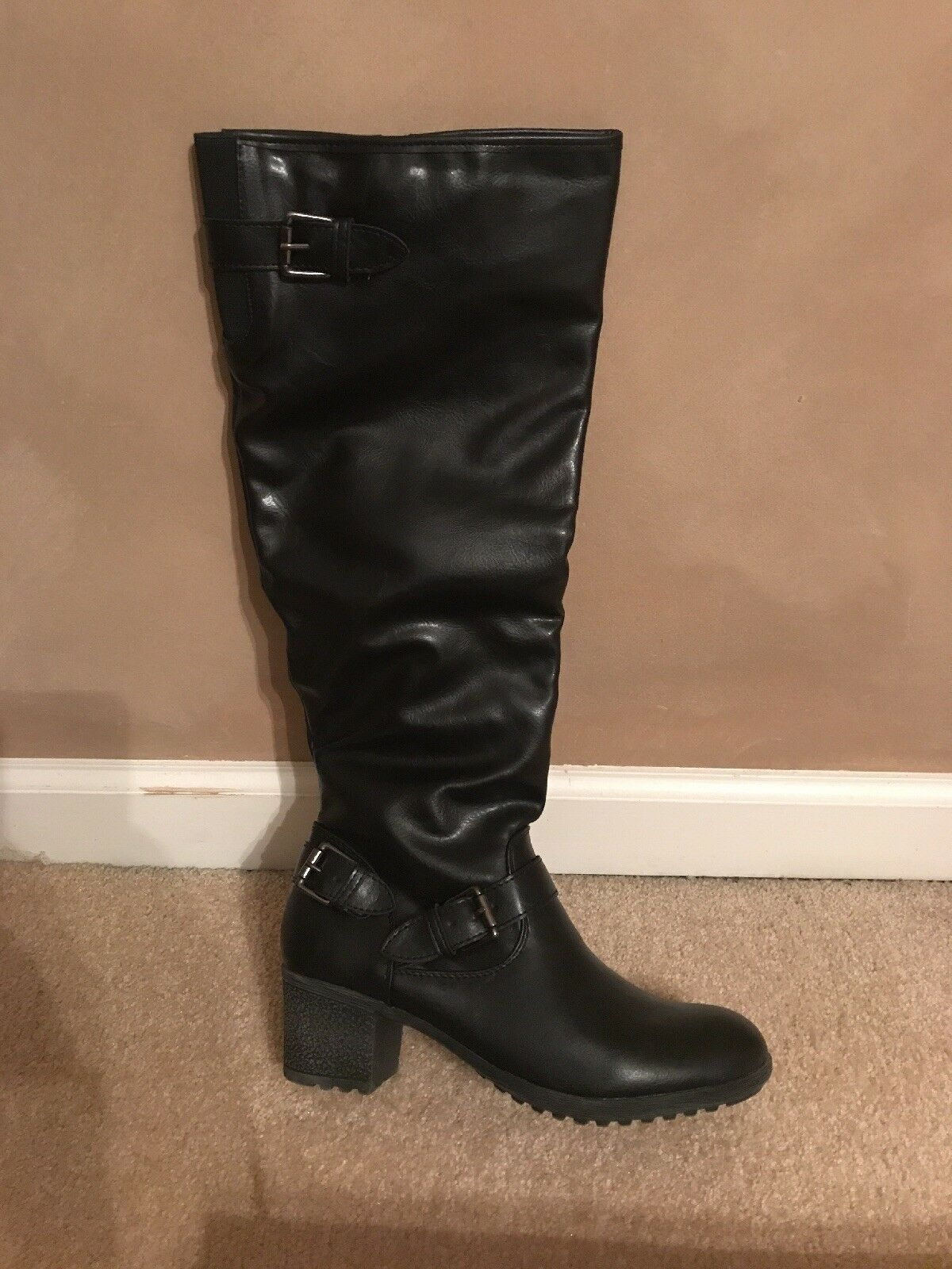 Modern Rush Women Black Ranger Boots, size 8.5