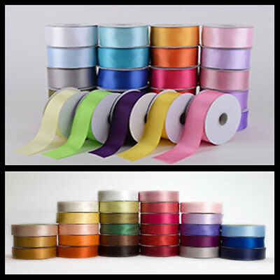 BROWN DOUBLE FACED SIDED SATIN RIBBON 3mm 10mm or 16mm Wide /& 25m// 50m Long