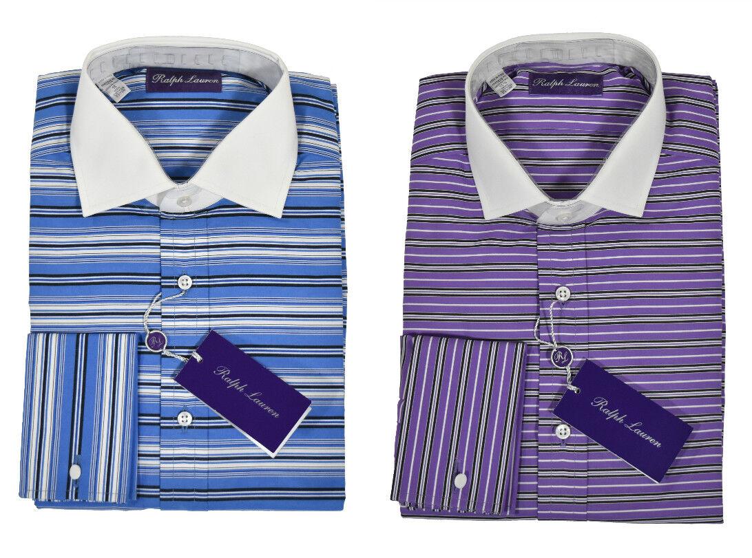 Ralph Lauren Purple Label Striped French Cuff Dress Shirt New