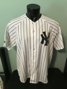 e3d1bb54cce New York Yankees Majestic Pinstripe Jersey Mens size XL Made in USA ...