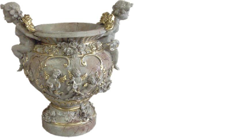 XXL Vase Tisch Dekoration Deko Vasen Antik Stil Skulptur Figur Kelch Rom 51cm