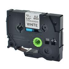 Schriftband 12mm Schwarz auf Weiß für Brother TZ-S231 TZe-S231 P-Touch PT-D210