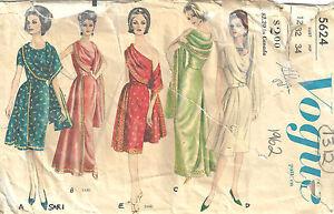 471385cb8610 Image is loading 1962-Vintage-VOGUE-Sewing-Pattern-B32-034-DRESS-