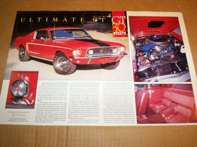 1968 Ford Mustang R Code 428 Cobra Jet GT Fastback