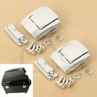 Chrome Tour Pack Pak Latches For Harley Touring Electra Road King Glide 1980-13