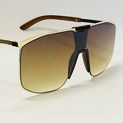 Fashion Big Oversize Flat Lens Square Men Women Aviator NEW Style Sunglasses