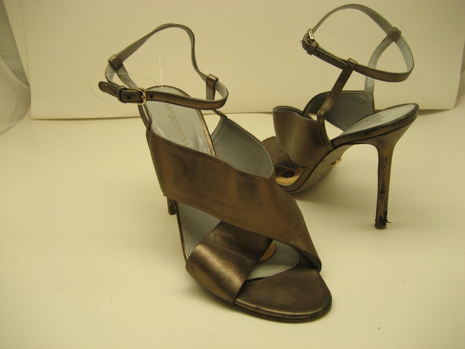 Mujer Zapatos De Tacón Gladiador Serigo Rossi Hecho En En En Italia Talla 40 ed1da2