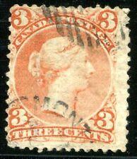 CANADA 1868 20yA GESTREIFTES PAPIER gest RRRRR 750€(Z1795
