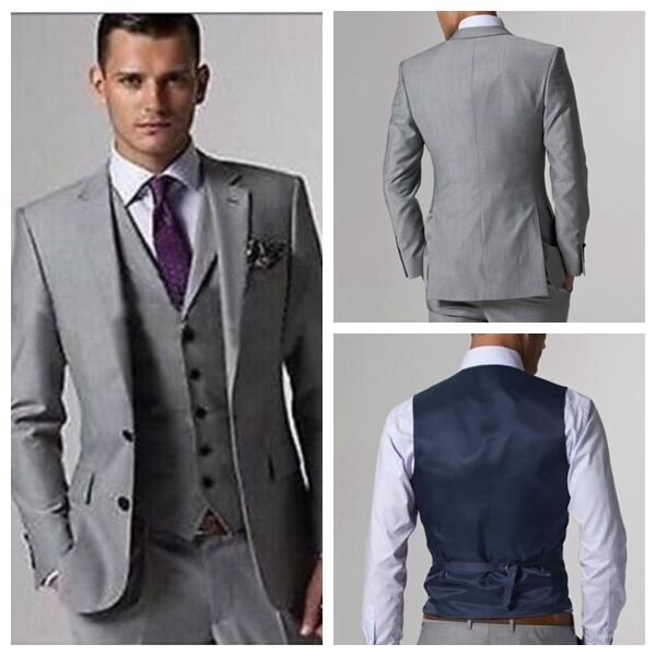 Custom made groomsmen light grey men suits bespoke wedding tuxedos custom made groomsmen light grey men suits bespoke wedding tuxedos groom suit junglespirit Images