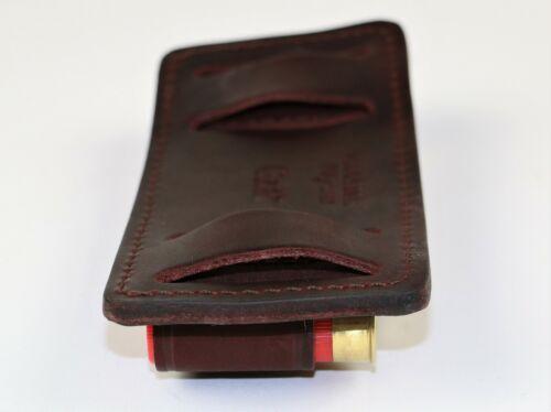 New Genuine Leather Shotgun Shell Ammunition Carrier Belt Slide 12 Gauge Hunting