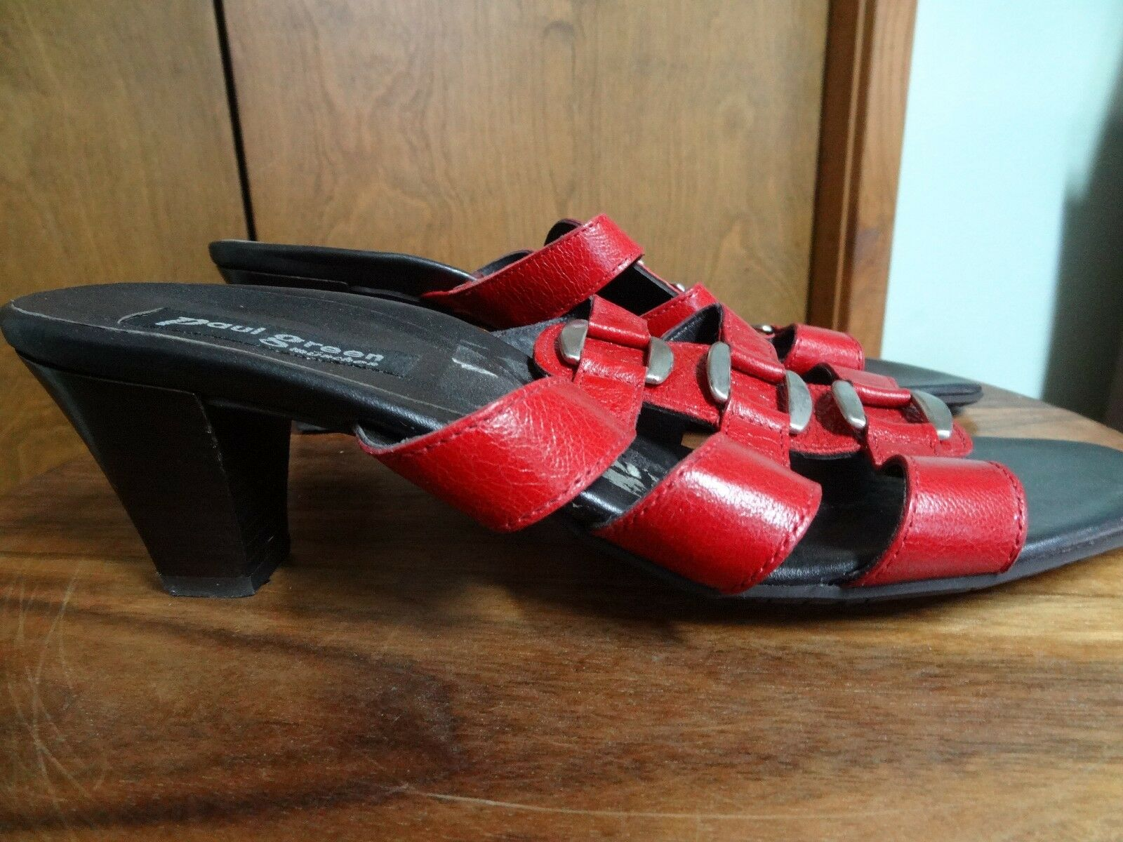 Paul verde Munchen rosso leather sandals, Wouomo 6