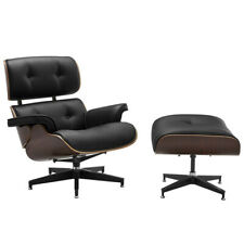 NEW DukeLiving Replica Eames Lounge Chair Ottoman Soft Italian Leather