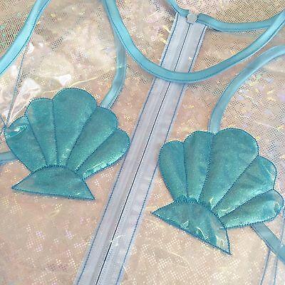 HELLO FRUITS - Mermaid Glitterati Sea Shell Top / Pvc / S M 8 10 12 / Festival
