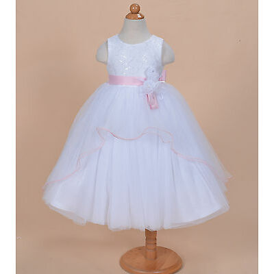 Cinda Flower Girl Party Bridesmaid Dress Pink Blue Purple 2 3 4 5 6 7 8 9 Years