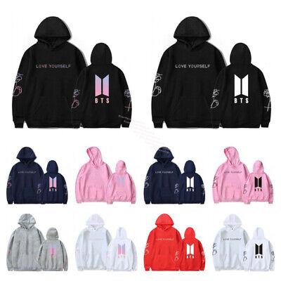 Kpop BTS Bangtan Boys Unisex Hoodies Hooded Casual Sweatshirt Jumper Pullover UK
