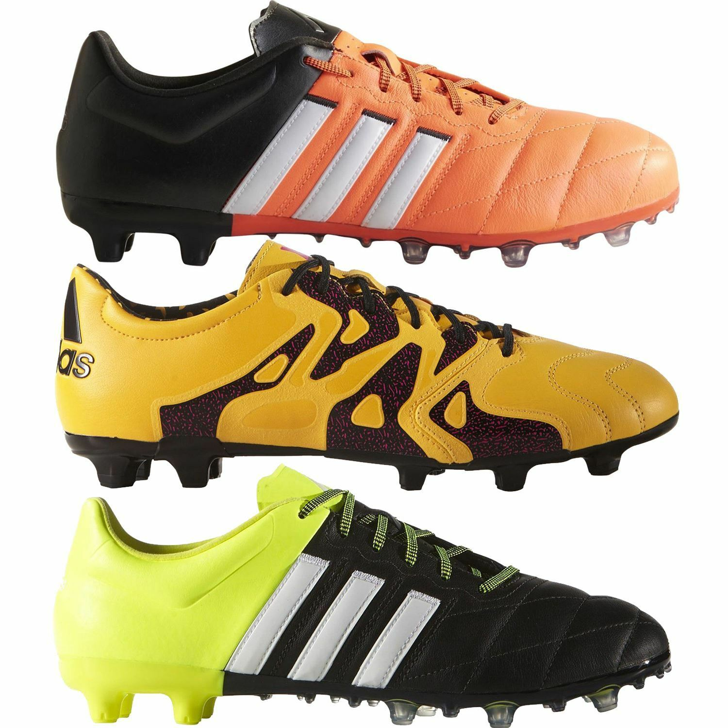 1d7483f2a7db Adidas FOOTBALL BOOTS ACE 15.2 FIRM GROUND SOCCER MEN S LEATHER X ...