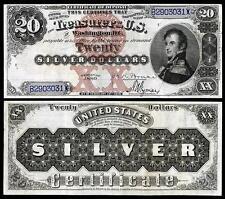 NICE CRISP UNC. 1880 $20.00 SILVER CERTIFICATE COPY PLEASE READ DESCRIPTION
