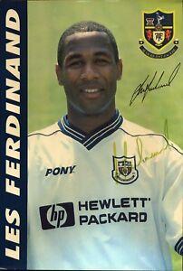 Les-Ferdinand-Tottenham-Hotspur-GB-Fussball-Original-Autogramm-Autograph-O-603