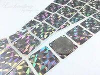 100 - Scratch Off Labels 1 X 1 Hologram Square Stickers