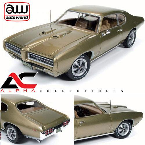 Autoworld AMM1081 1 18 1969 PONTIAC GTO Hemmings MUSCLE Magazine antique Glod