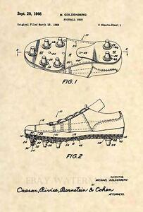 Official-Football-Cleat-Patent-Art-Print-Vintage-Antique-NFL-Original-442