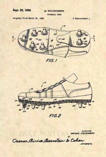 Official Football Cleat Patent Art Print Vintage Antique NFL Original 442