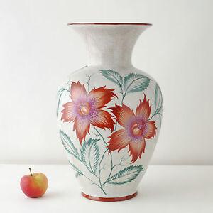 Art-Deco-Vase-Bodenvase-H45cm-Schumann-Diamant-Craquele-floor-vase-18-034-30er-40er