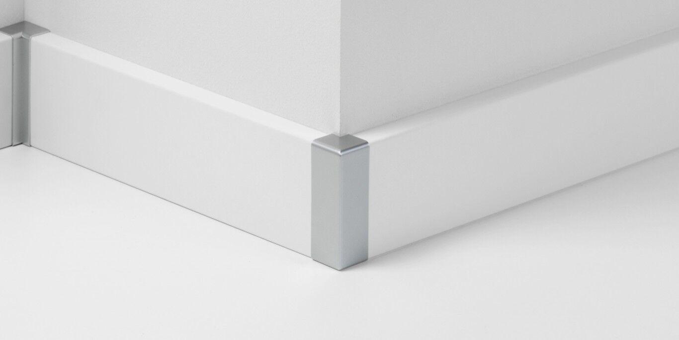 3,15 €/pak. parador formstücke ecken kappen typ2 alu-optik für
