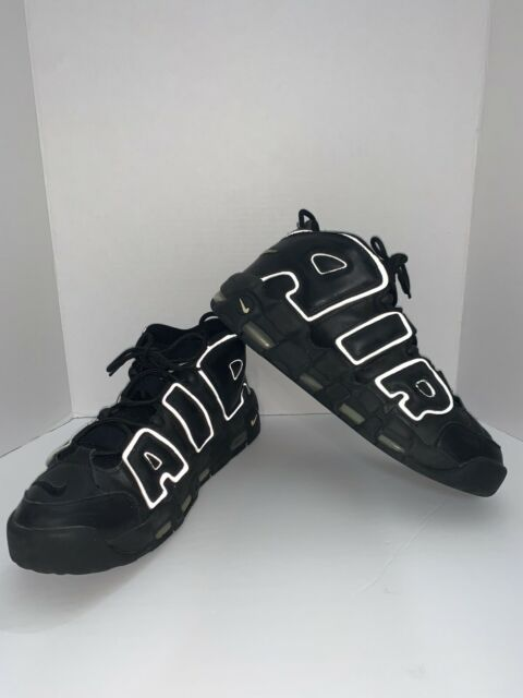 Size 13 - Nike Air More Uptempo Black White - 312971-011