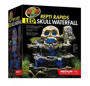 Zoo Med Repti Rapids Led Skull Waterfall Natural Rock