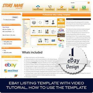 FULL eBay store Template design package Matching listing template ...