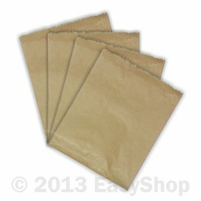 "Brown Paper Bags 7"" X 9"" Packs 100, 500 & 1000, Food Lunch Takeaway Gift Kraft"