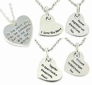 TOC-2-Sided-Worded-I-Love-You-Heart-Pendant-on-16-Inch-Chain-xmas-Gift-For-Her