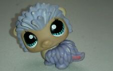 LITTLEST PET SHOP LPS #1186 Purple Porcupine Hedgehog 2008 RARE Teal Blue Eyes