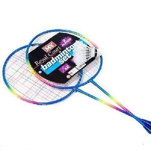 Deux joueur badminton sports plage jardin set-raquettes & volants TY9782  </span>