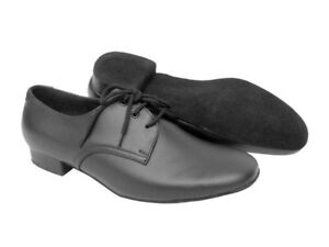 Standard Mens Dance S304 Fine Leather Tango Shoes Black Very Smooth 6XFxwq