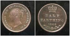 ROYAUME UNI   1/2  farthing   1843