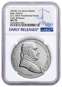 1797-2018-U-S-John-Adams-1-oz-Silver-Presidential-Medal-NGC-MS70-ER-SKU55026