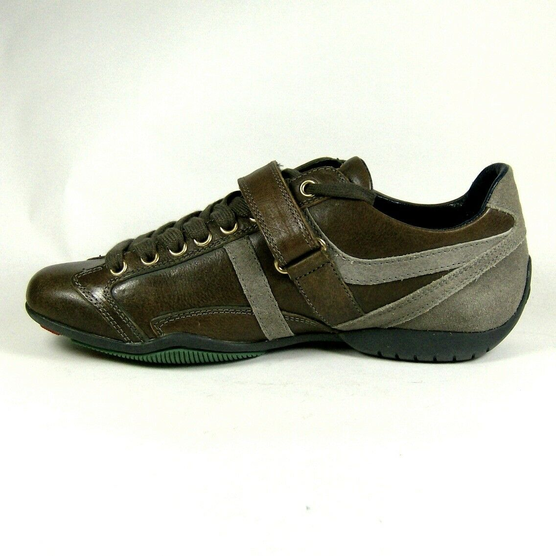 HUGO BOSS Womens Brown 7 Leather Trainers Shoes Size 3 7 Brown 8 a7c1d9