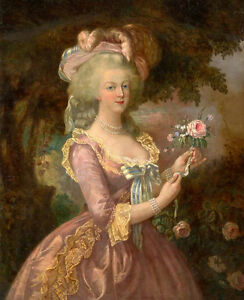 Dream-art oil painting Portrait of Queen Marie Antoinette of France Hand painted